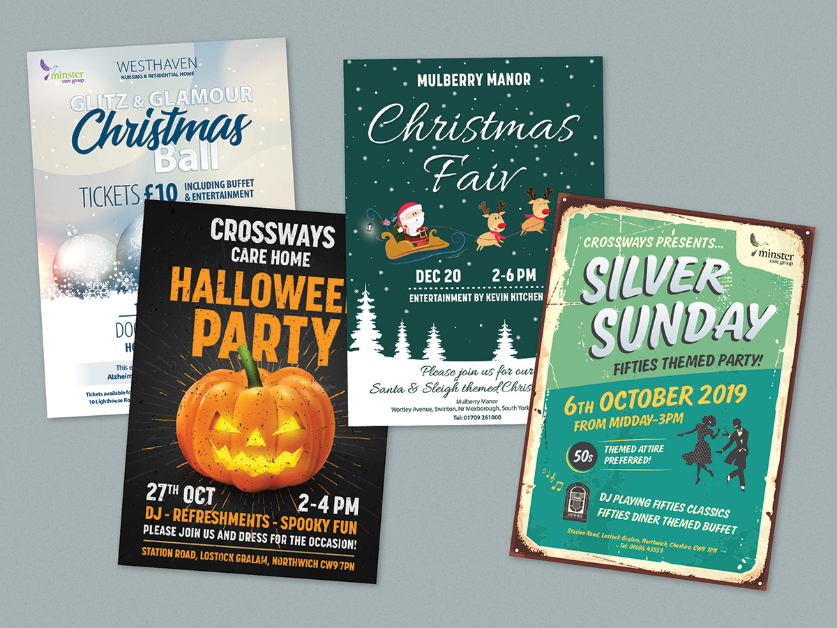 Minster Event Flyers